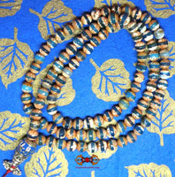 Tibetan blue agate rosary - For meditation of the Medicine Buddha.