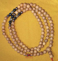 Tibetan Indian Bodhi seed rosary (with copper, brass and magnetite beads) -
