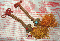 Large copper mantra counters for Tibetan mala.