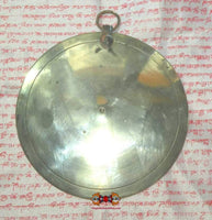 Large Tibetan shaman meditation mirror (silver and copper).