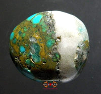 Tibetan turquoise bead and quartz.