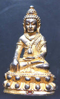 Ancient golden Phra Kling amulet.