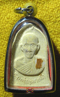 Amulet Roop Lor portrait and relic - Most Venerable LP Kassem.