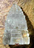 Shri Yantra in rock crystal (quartz) - Large model.