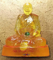 Statue of Most Venerable LP Lersi Lingdam (with blessed Look Geow glass bead) - 1982 Edition.