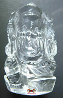 Statuette of Ganesh in Tibetan rock crystal (quartz).