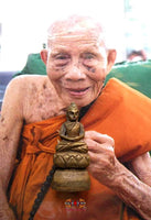 Bronze statuette of the Phra Buddhajao Buddha - Most Venerable LP Saur Kantiko.