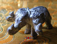 Sacred Elephant Statuette Airavata at 3 heads