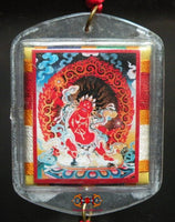Large Bönpo Yantra amulet from Tagla Membar - Protection against accidents.