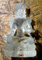White Tara statuette in Tibetan rock crystal (quartz).