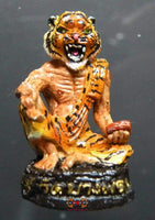 Lersi-amulett med tiger ansikt - Temple of the Very Venerable LP Pern.