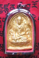 Golden Tsa Tsa Amulet of the Buddha of Long Life.