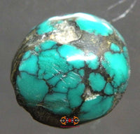 Small pearl of Tibetan turquoise.