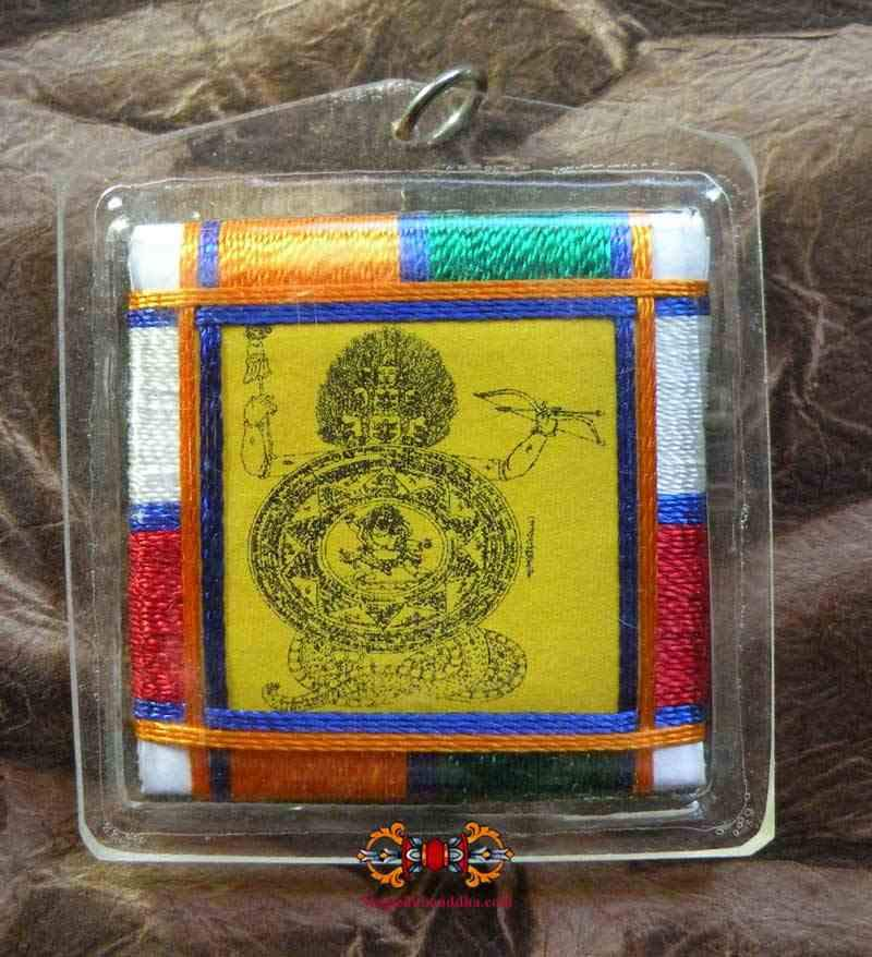 Tibetan Amulet Yantra Dza-Rung (Rahula Chakra) - against evil astrological influences.