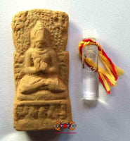 Votive tablet of the historic Buddha + water from the sacred basin of Lumbini.