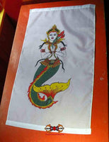 Flags / Banners Pa Yant - mermaid and sacred crocodile.