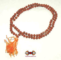 Miniature mala in seeds of Shiva rudraksha XXXS.