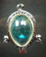 Beautiful blue alchemical glass pendant Kai Paya Nag from Wat Kanchanote