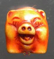 Amulet Thai pig Moo Mee Kwamsuk (for wealth and happiness) - Most Venerable LP Lum.