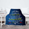 "Personalized ""To My Lovely Wife"" Premium Customized Blanket"