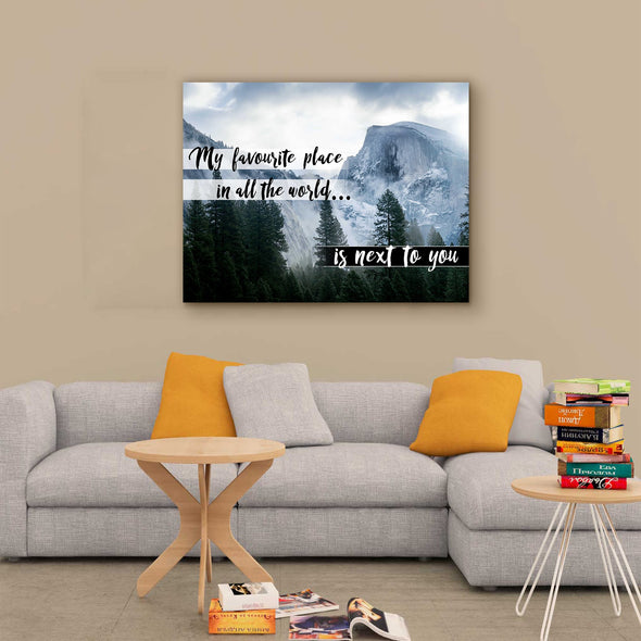 """My Favorite Place Is Next To You"" Love Wall Canvas"