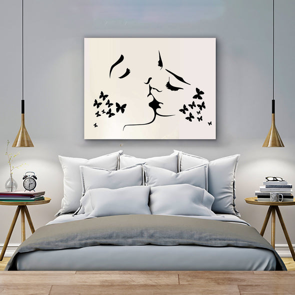 Kissing Couple Wall Art Canvas