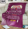 "Personalized ""When I Tell I Love You "" Premium Customized Cozy Blanket"