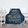 "Personalized ""Never Forget I Love You"" Premium Customized Cozy Blanket"