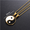 Yin Yang Puzzle Two Piece Necklace