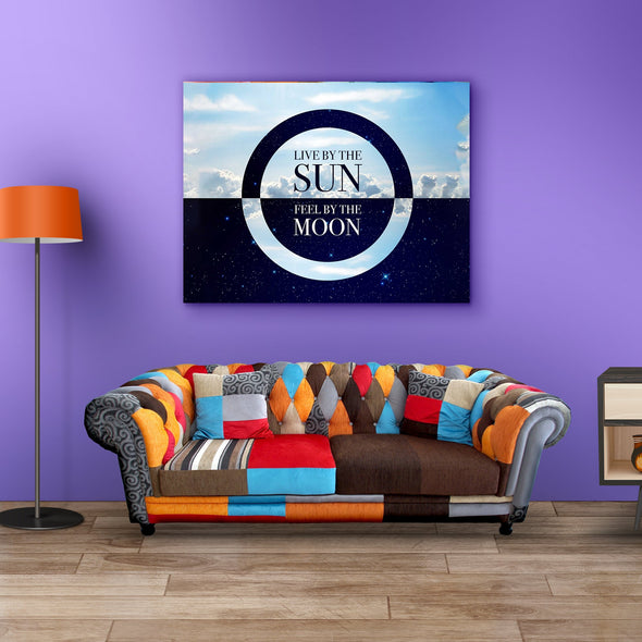 """Sun And Moon"" Home Decor Canvas"