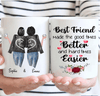 Custom Friendship Mug| Sisters Forever, Choose Name Hairs & Quotes, Personalize Mug For Sister, Mom