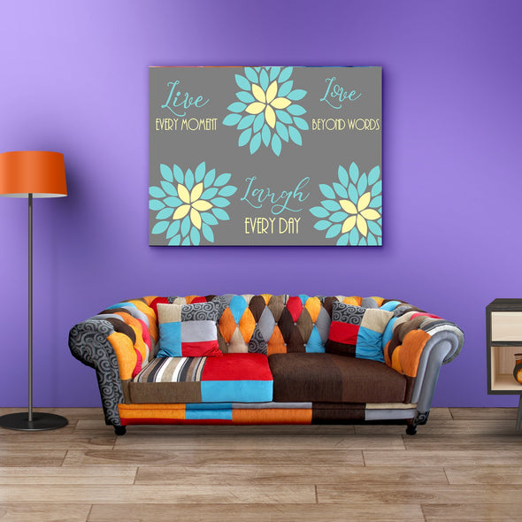 Laugh Every Day Wall Decor Canvas