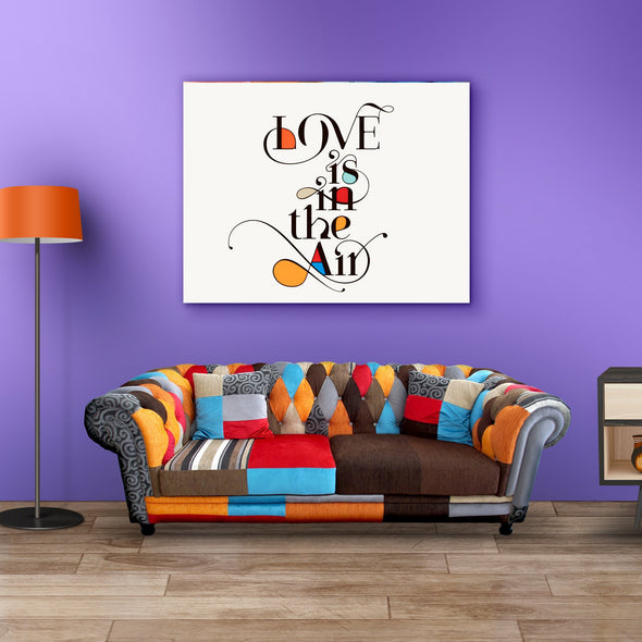 Love Is In The Air Wall Canvas
