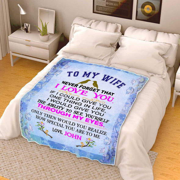 """To My Wife I Love You"" Premium Personalized Blanket"