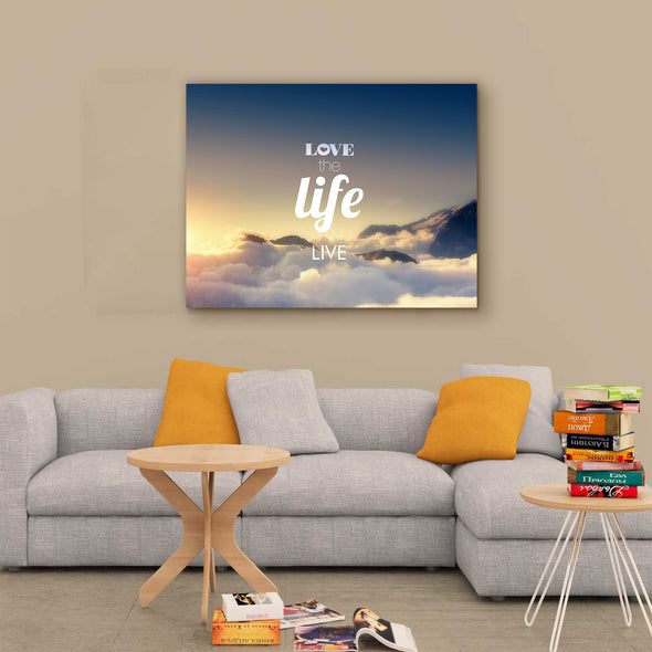 """Love The Life You Live"" Wooden Wall Art"
