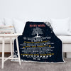 "Personalized Cozy Blanket To  My Lovely  Wife""  Premium Customized Blanket"