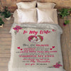 """To My Wife"" Personalized Blanket"
