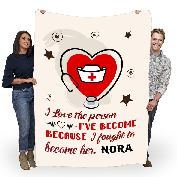Customized Blanket For A Nurse