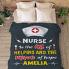 """Nurse Is The Art Of Helping And The Miracle Of Hope"" Personalized Blanket"
