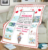 """I Love You Forever & Always"" Customized Blanket For Husband"