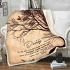 """Thank You For Walking By My Side"" Customized Blanket For Dad"
