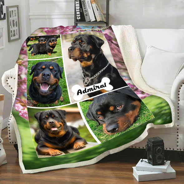 Personalized Blanket For Pets With Picture And Name