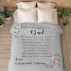 """Dad- We Hugged This Lovely Blanket"" Customized Blanket For Grandma/Grandpa/Mamma/Papa/Auntie"