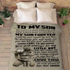 """You Will Always Be My Little Boy"" Customized Blanket For Son"