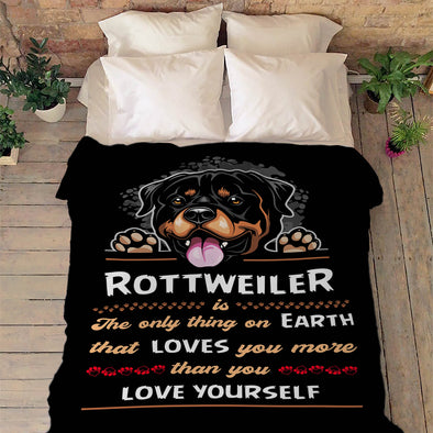 Fleece Blanket For Rottweiler Lovers
