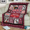 """Live Love And Bark"" Custom Fleece Blanket For Dogs"