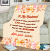 """To My Husband You're The Sunshine To Light My Day"" Customized Blanket For Husband"