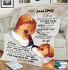 """I Pray You'll Always Be Safe"" Personalized Blanket For Son"