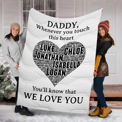 """We Love You"" Daddy Customized Blanket For Grandma/Grandpa/Mamma/Papa/Auntie"