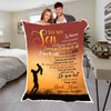 """Do Your Best & Never Forget Your Way"" Customized Blanket For Son"
